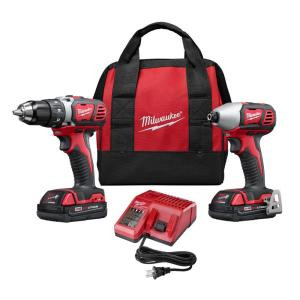 M18 18-Volt Lithium-Ion Cordless Drill Driver/Impact Driver Combo Kit (2-Tool) w/(2) 1.5Ah Batteries, Charger, Tool Bag