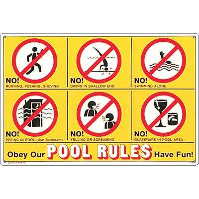 Pool signs pool accessories pools pool supplies - Residential swimming pool regulations ...