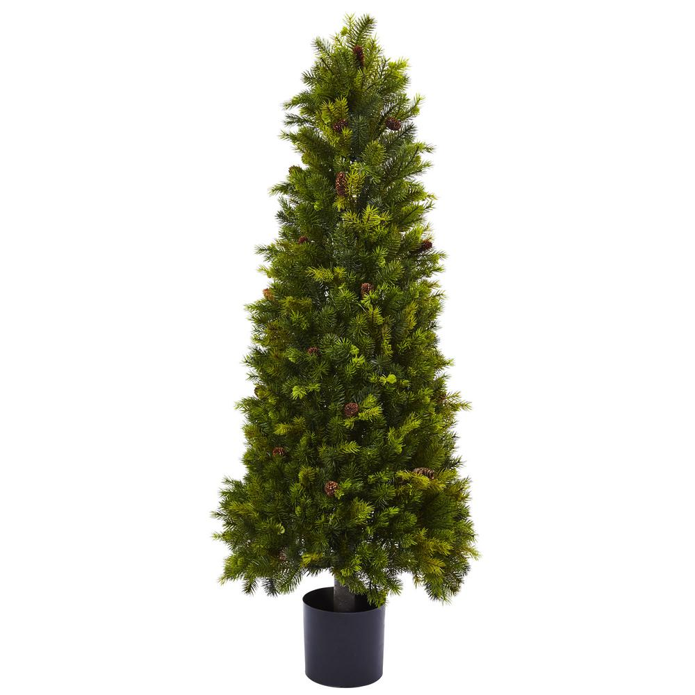 Nearly Natural 50 in. Pine Cone Top, Greens