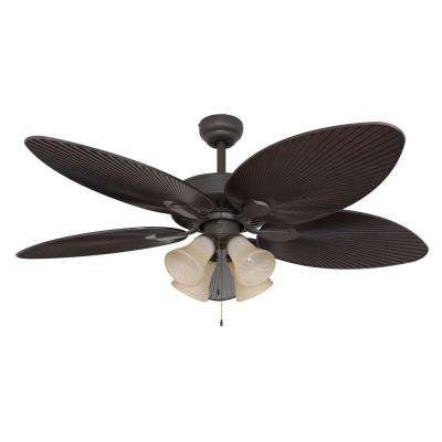 Tortola 52 in. Bronze Ceiling Fan