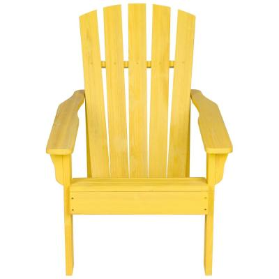 36 in. Tall Vineyard Patio Yellow Wooden Adirondack Chair