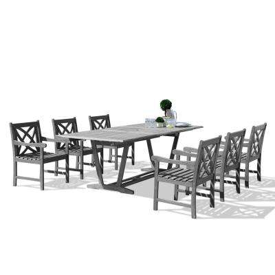 Renaissance Hardwood 7-Piece Rectangle Patio Dining Set
