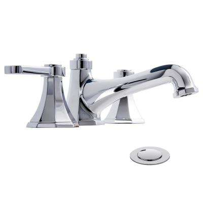 Opera 8 in. Widespread 2-Handle Bathroom Faucet with Drain Assembly in Polished Chrome