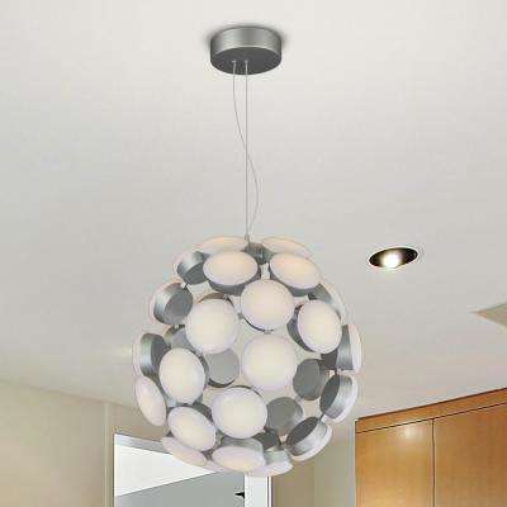Kastra 19 in. 67-Watt Silver Integrated LED Chandelier