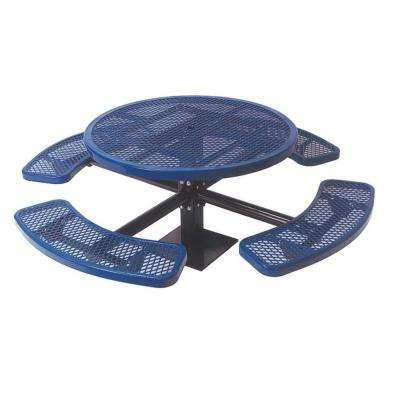 Diamond Blue Commercial Park Round Table Surface Mount