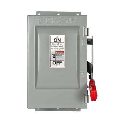 Heavy Duty 30 Amp 600-Volt 3-Pole Type 12 Non-Fusible Safety Switch