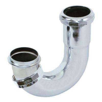 1-1/2 in. Sink Trap J-Bend, Chrome