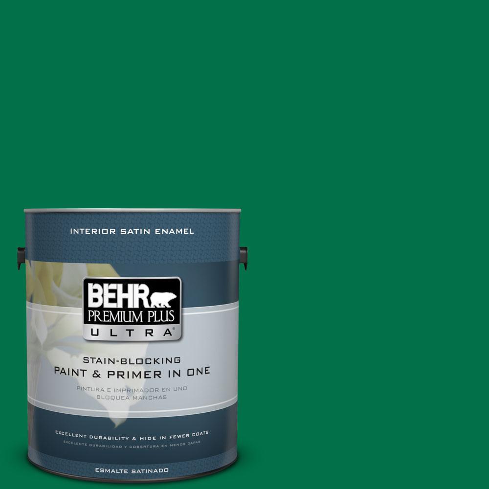 BEHR Premium Plus Ultra 1-gal. #470B-7 Climbing Ivy Satin Enamel Interior Paint