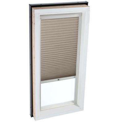 Manual Light Filtering Cappuccino Skylight Blinds for FCM 3434 Models