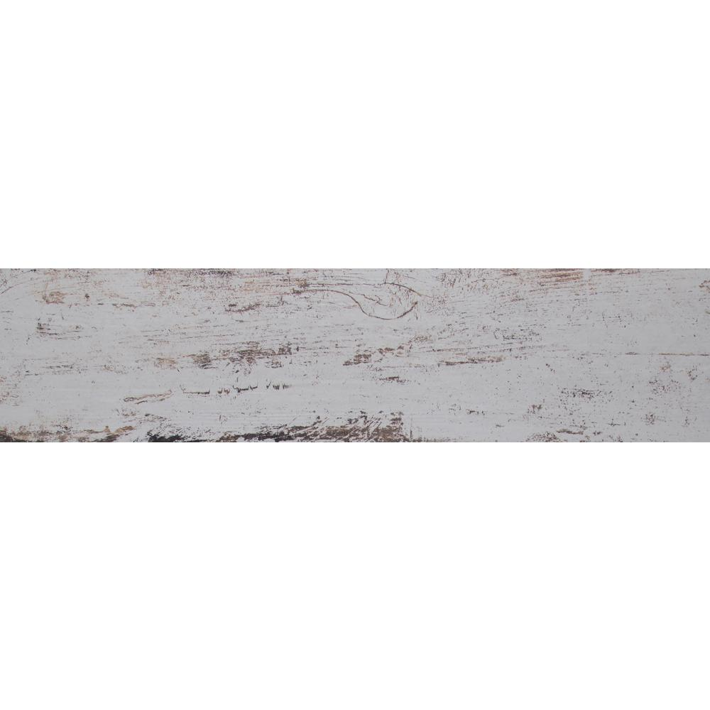MSI White Washed Wood 6 in. x 36 in. Glazed Porcelain Floor and ...