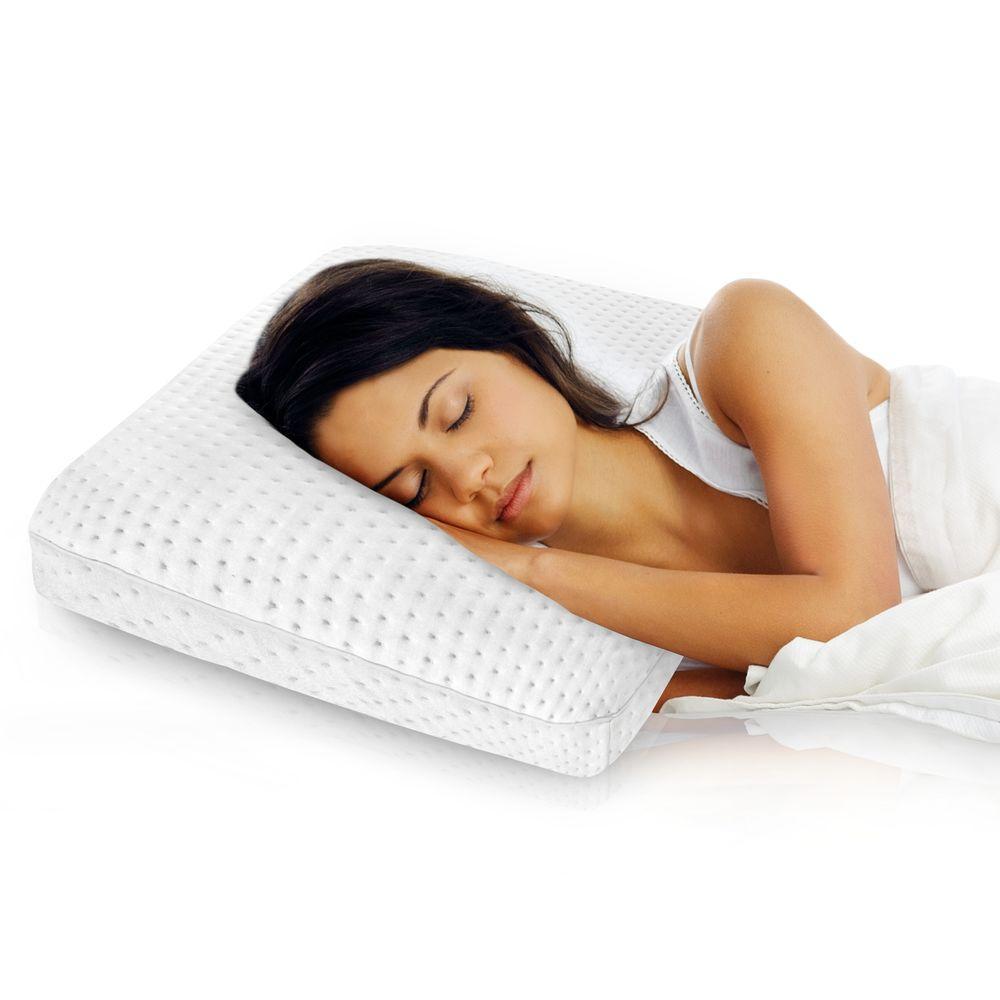 Sleep Master 2-Pack Traditional Memory Foam Pillows Standard : Tempur-Pedic Cloud Breeze Dual Cooling Foam King Bed Pillow-15440325 - The Home Depot