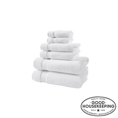 Egyptian Cotton 6-Piece Towel Set in White