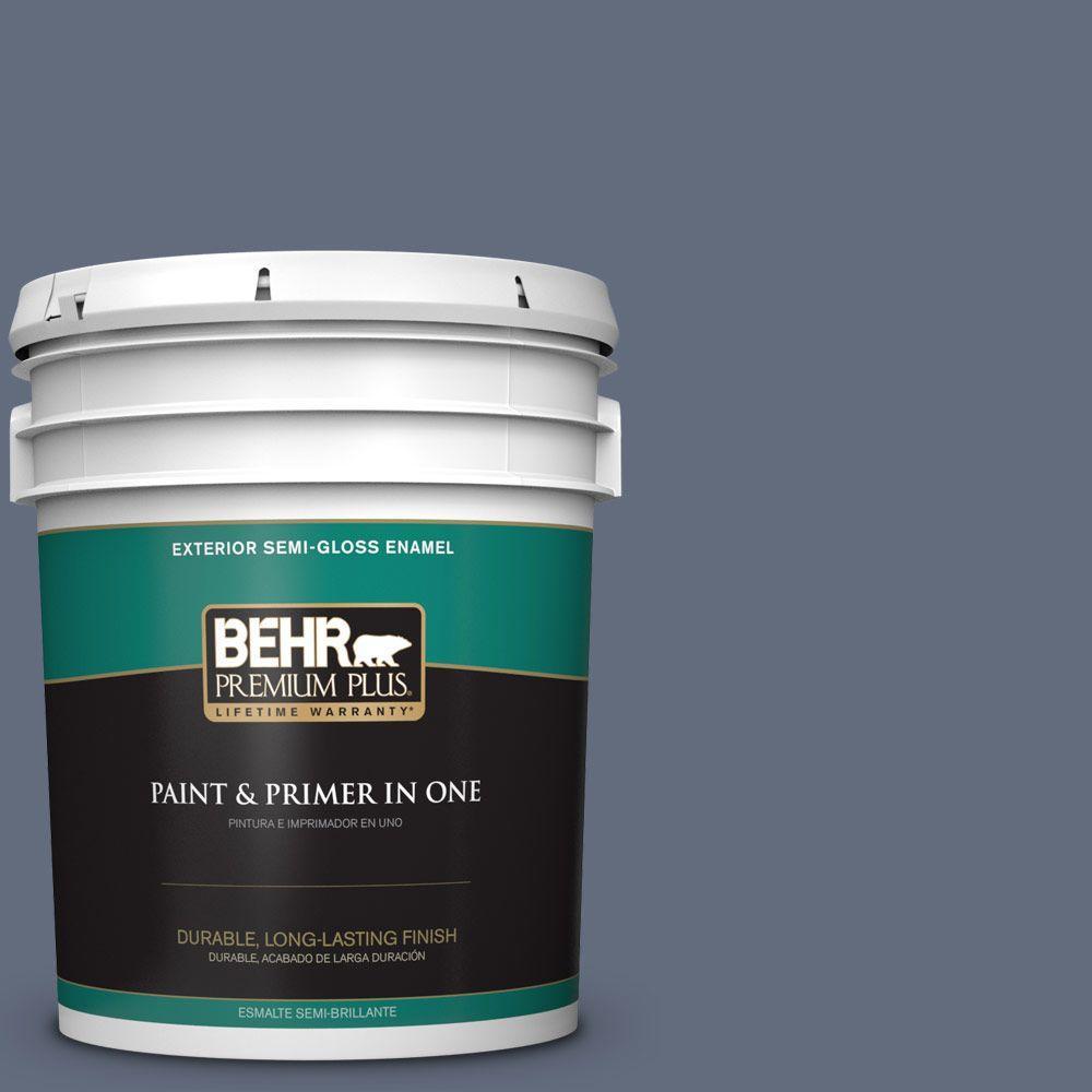 BEHR Premium Plus 5-gal. #BNC-29 Dark Room Semi-Gloss Enamel Exterior Paint