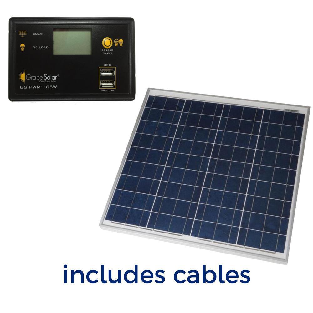 50-Watt Off-Grid Solar Panel Kit