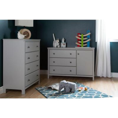Cotton Candy 3-Drawer Soft Gray Changing Table