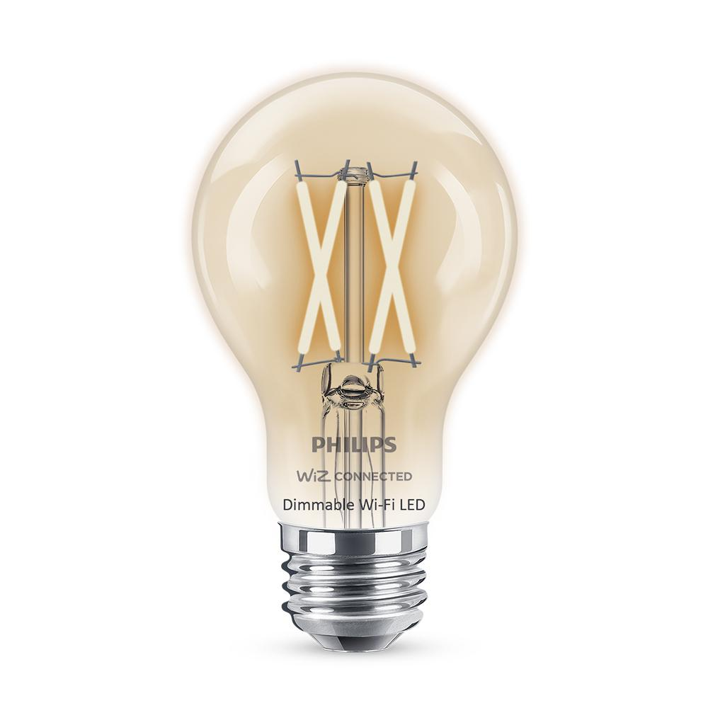 Philips Soft White A19 LED 40W Equivalent Dimmable Smart Wi-Fi Wiz Connected Wireless Light Bulb