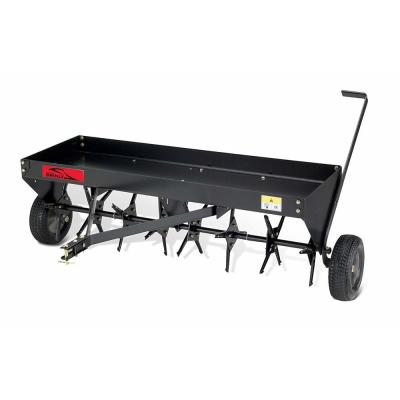48 in. Tow Behind Plug Aerator with Weight Tray and Universal Hitch