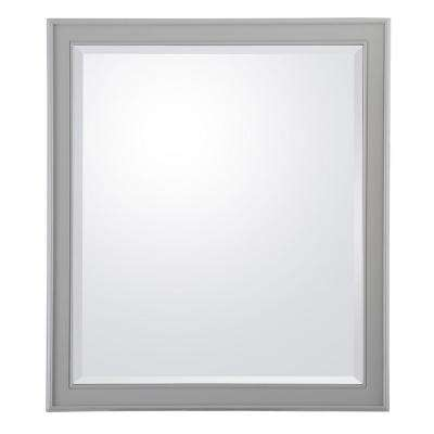 Gazette 28 in. W x 32 in. L Wall Hung Mirror in Grey