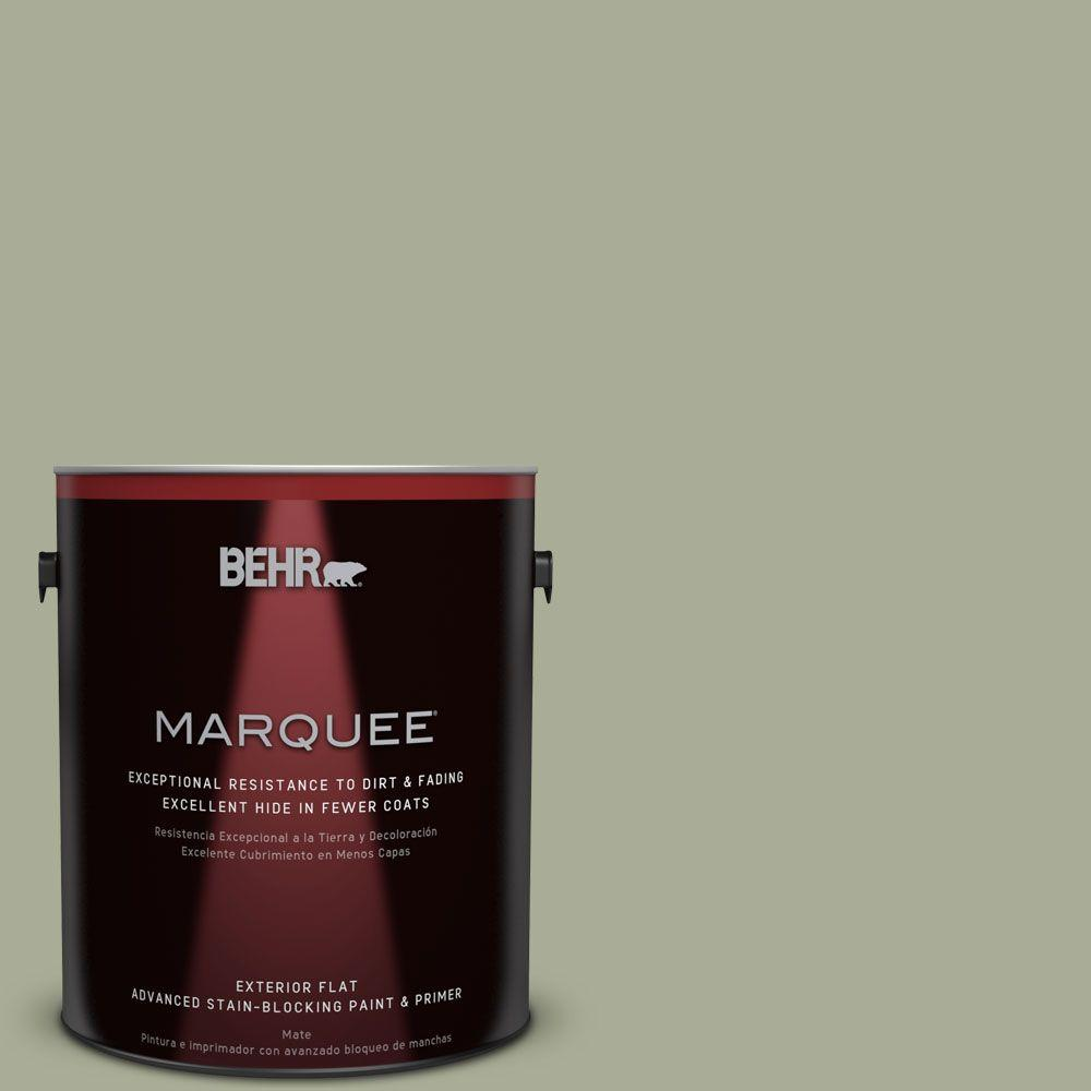 1-gal. #S380-4 Bay Water Flat Exterior Paint
