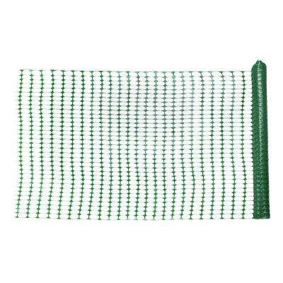 1/4 in. x 4 ft. x 100 ft. Green Warning Barrier Safety Fence