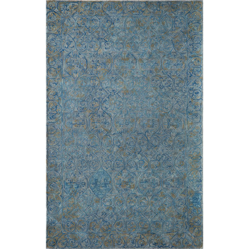 Delhi Blue 8 ft. x 10 ft. Indoor Area Rug