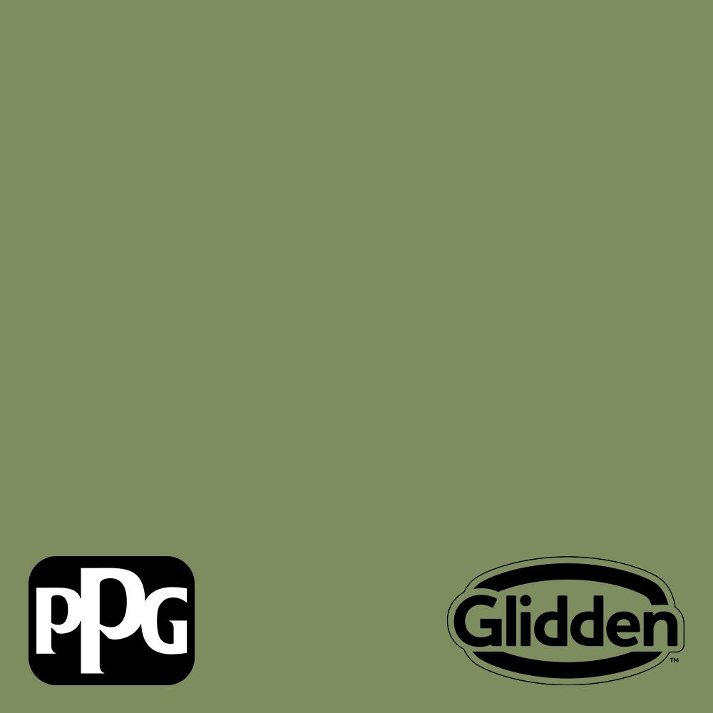 Glidden Essentials 1 Gal Moss Point Green Ppg1121 6 Flat Exterior Paint Ppg1121 6ex 01f The Home Depot