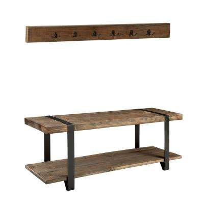 Modesto Reclaimed Wood Coat Hook with Bench