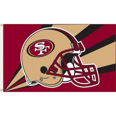 3 ft. x 5 ft. Polyester San Francisco 49ers Flag
