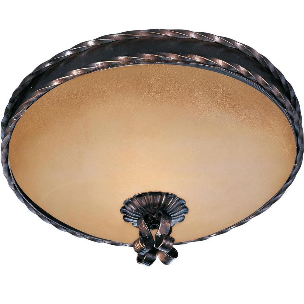 Aspen 2-Light Oil Rubbed Bronze Flush Mount