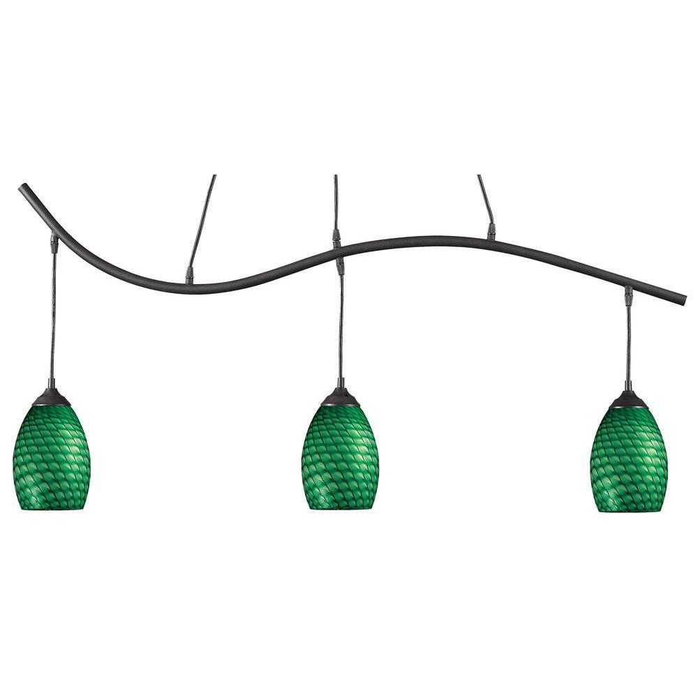 Filament Design Lawrence 3-Light Sand Black Ceiling Island Pendant