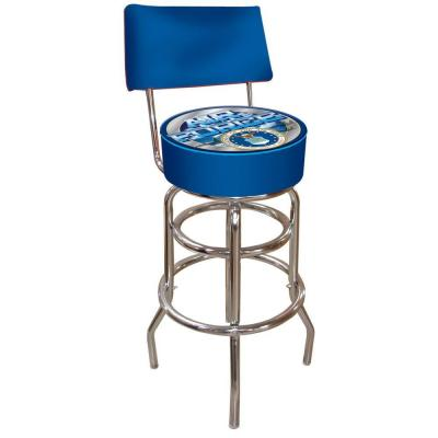 United States Air Force 30 in. Chrome Padded Swivel Bar Stool