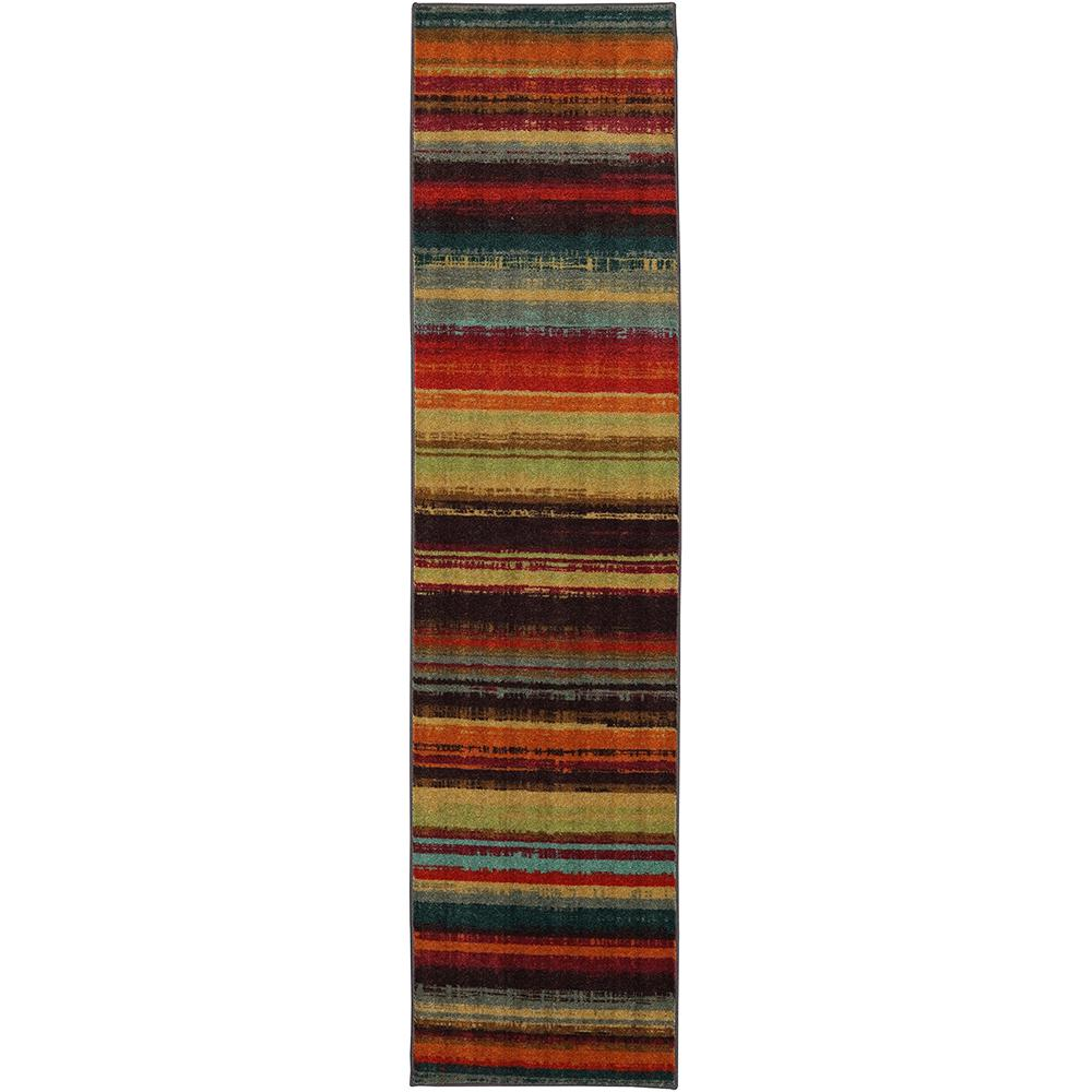 Mohawk Home Boho Stripe Multi 2 Ft Ft X 8 Ft Runner