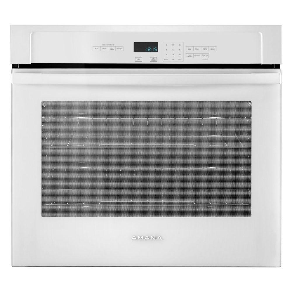 Amana 30 in. Single Electric Wall Oven Self-Cleaning in W...