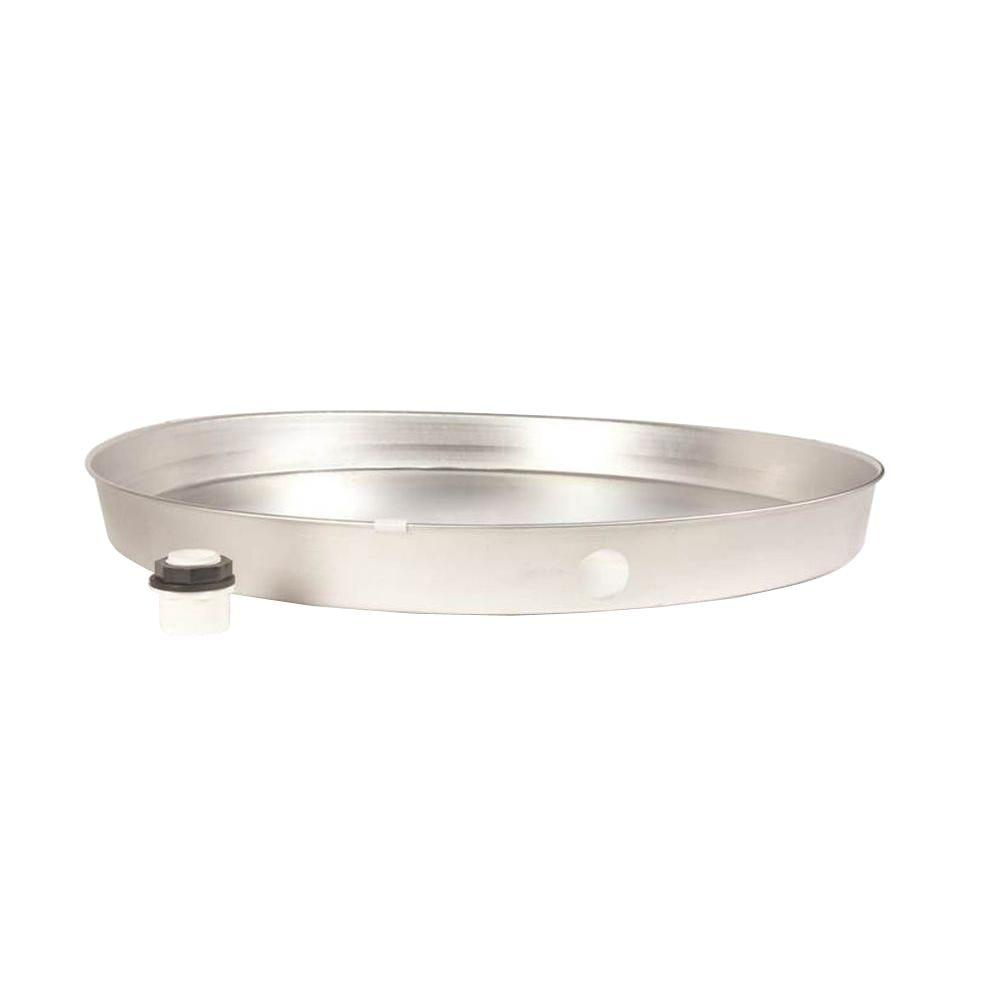 20 in. I.D. Aluminum Water Heater Drain Pan with PVC Fitting
