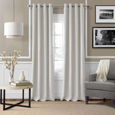 Elrene Essex 50 in. W x 95 in. L Polyester Single Window Curtain Panel in White