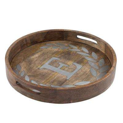 "20 in. D Mango Wood Round Tray ""E"""