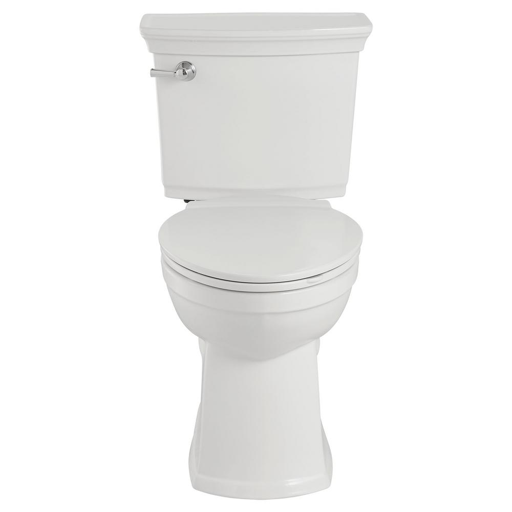 American Standard VorMax Plus Tall Height 2-Piece 1.28 GPF Single Flush Elongated Toilet in White