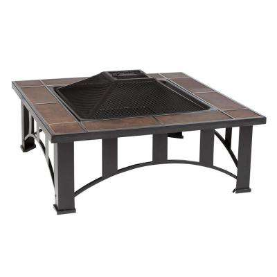 34 in. Mission Style Square Fire Pit