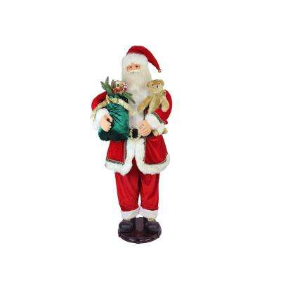 60 in. Christmas Deluxe Traditional Animated and Musical Dancing Santa Claus Figure