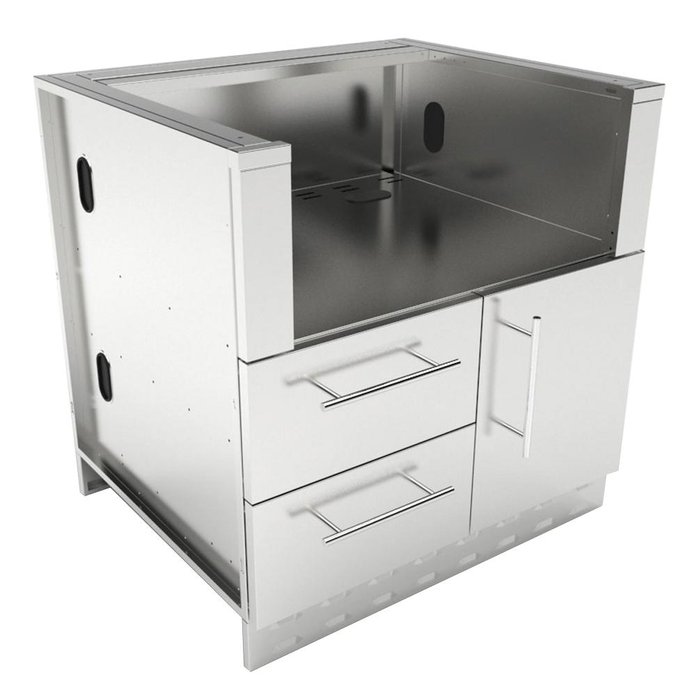 Designer Series 304 Stainless Steel 34 in. x 34.5 in. x
