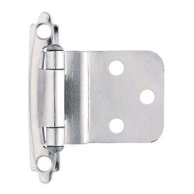 Chrome Self-Closing 3/8 in. Inset Cabinet Hinge (1-Pair)