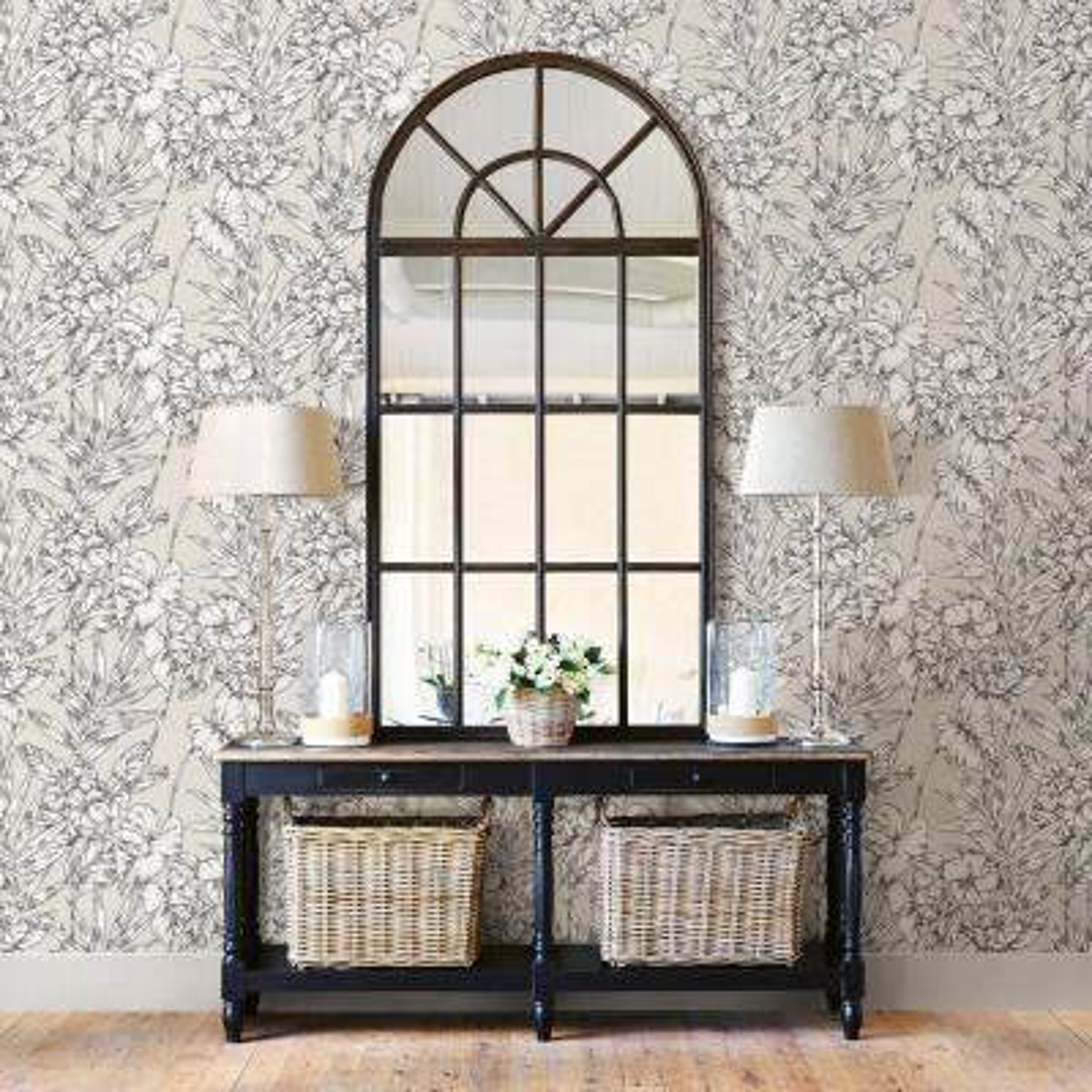 56.4 sq. ft. Fiji Beige Floral Wallpaper