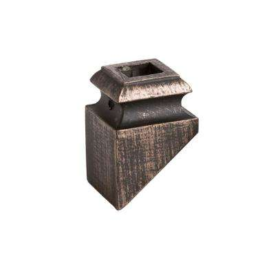 Square Hole 1.3125 in. Aluminum Angeled Baluster Shoe in Oil Rubbed Bronze