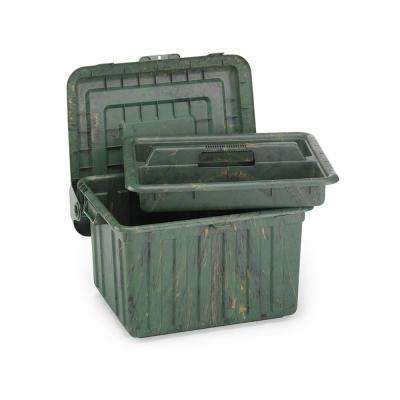 Locker Storage Box with Tray Camo (Set of 2)