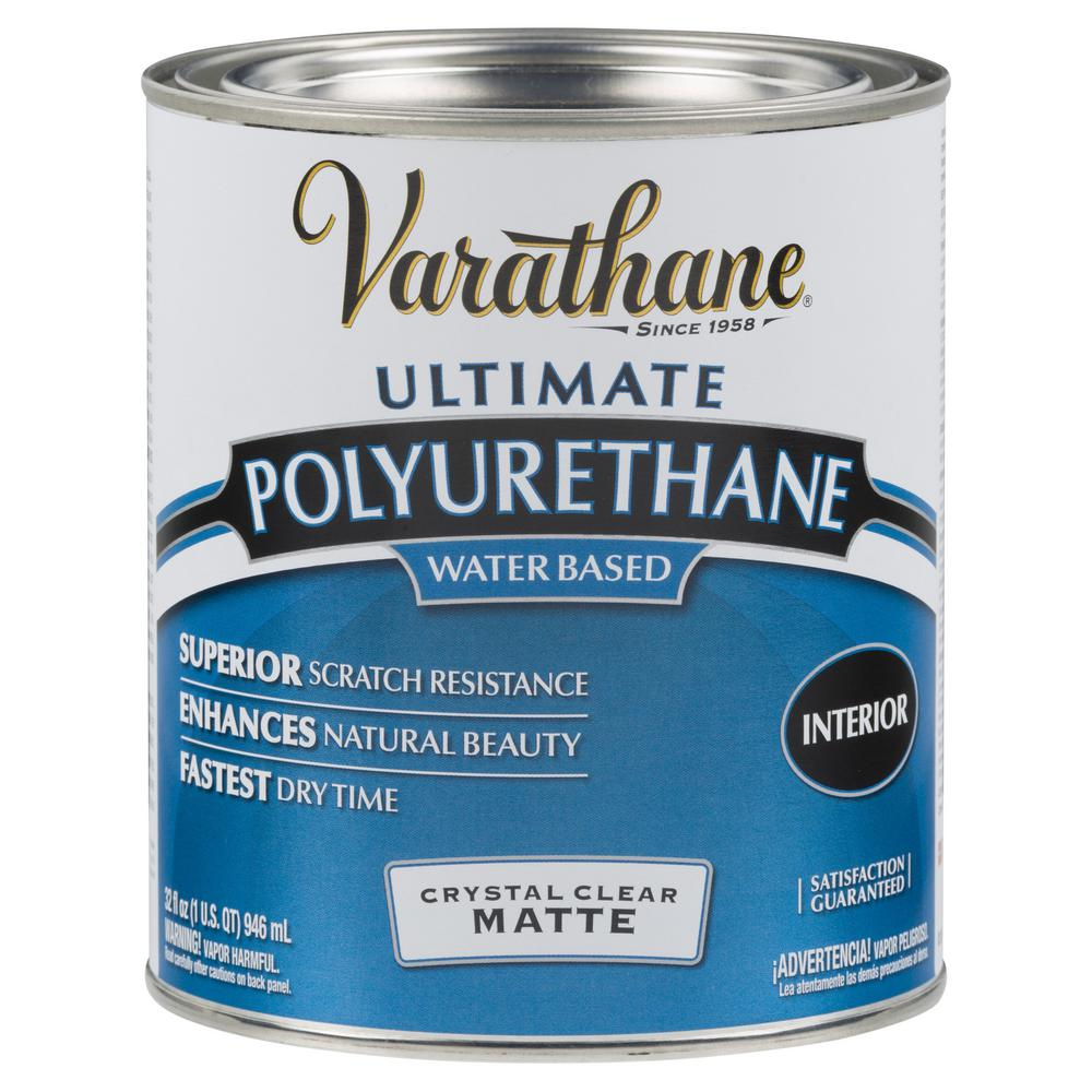 Varathane 1 qt. Clear Matte Water-Based Interior Polyurethane (2-Pack)