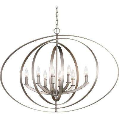 Equinox 8-Light Burnished Silver Orb Chandelier