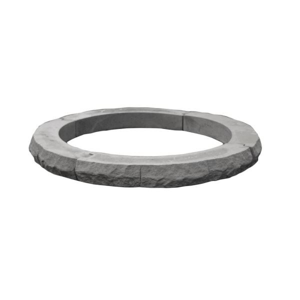 Ledgestone 42 in. Gray Fire Pit Additional Layer Kit