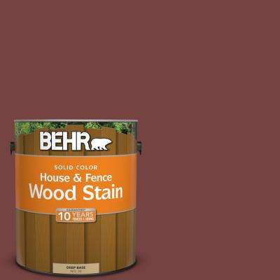 1 gal. #S130-7 Cherry Cola Solid House and Fence Wood Stain