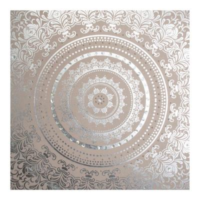 """31 in. x 31 in. """"Cocoon Embellished Fabric"""" Printed Wall Art"""