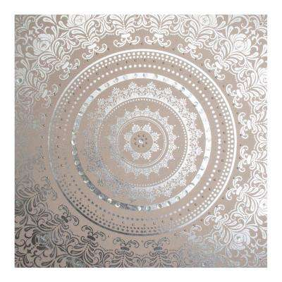 "31 in. x 31 in. ""Cocoon Embellished Fabric"" Printed Wall Art"